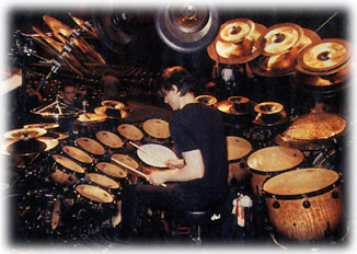 Terry Bozzio's drum set © John T. DeStefano 2001