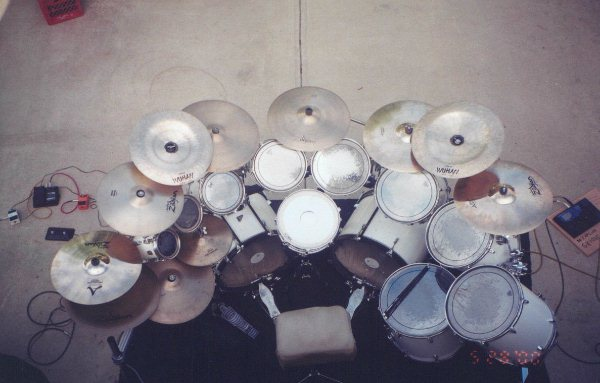 modern drum set ©John T. DeStefano 2001